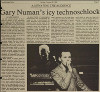 Gary Numan Michigan Daily 26.10.1980